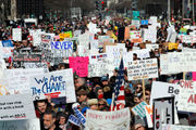 March for our Lives 2018: Hundreds of thousands across US rally for gun control