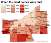 When was your town built? Cuyahoga County cities, villages, townships ranked for home age and square footage