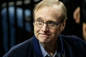 [Blazers owner Paul Allen was a courtside regular since buying the team in 1988.]