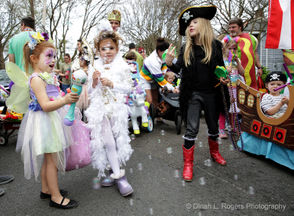 The Krewe of Confetti Kids hosted their annual walking parade Saturday in Algiers Point.