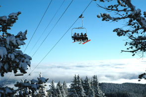The Vista Express chairlift at Mt. Hood Meadows.