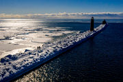 Icy landscapes along Lake Michigan create must-see images