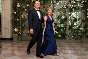 Democratic Gov. John Bel Edwards, wife wear blue to Trump's first state dinner