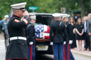 'Gentle giant' trooper and Marine killed in off-duty crash gets hero's funeral