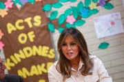 Melania Trump visits children at border detention center