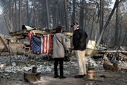 Trump tours California wildfire damage, pledges help in aftermath of 'total devastation'