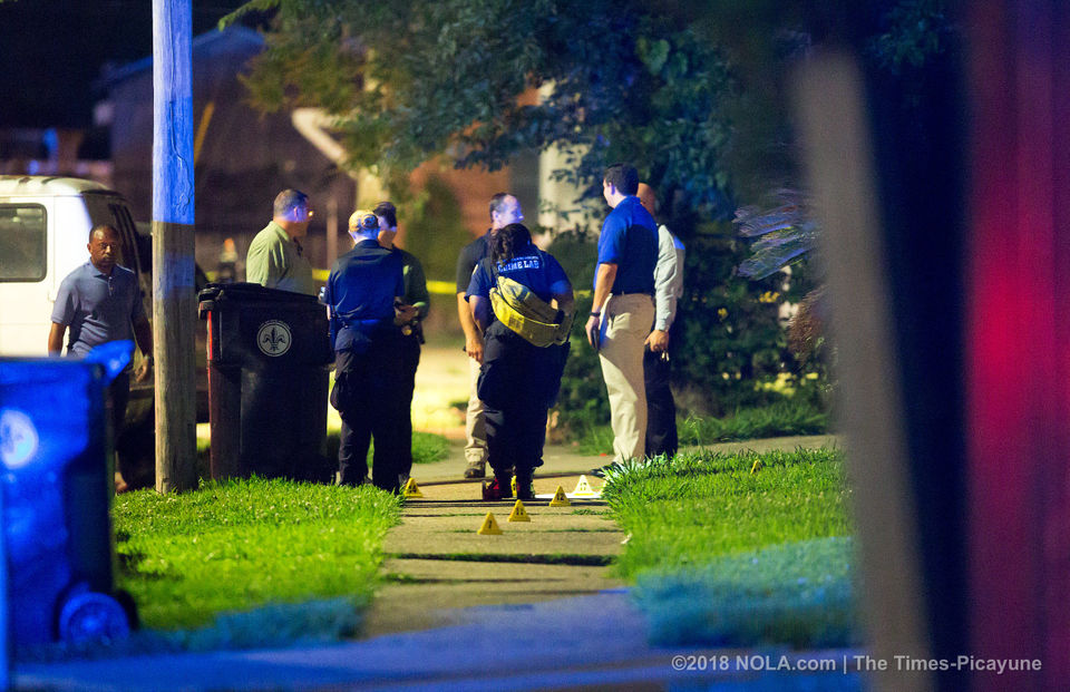 New Orleans police investigates a homicide in the 3000 block of Copernicus Street in Algiers.
