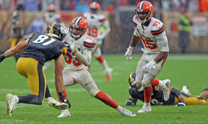 BEREA, Ohio -- Joe Schobert followed up his Pro Bowl season a year ago by coming back better in 2018. He's making impact plays and has embraced his role as the quarterback of the Browns' defense. His loss to a hamstring injury hurts. It's unclear how long he will be out, but the Browns will miss him as a playmaker and as the guy who wears the green sticker on his helmet, the indicator of the player who has the communication headset. No one is hitting the pause on the season until Schobert is ready to go again, so the Browns defense has to deal with his loss somehow. Here are some of their options: