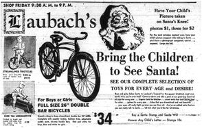 Laubach's holiday ad from 1948. (The Express-Times)