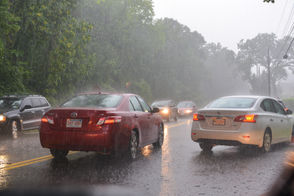 Thunderstorm with heavy rainfall and wind caused flooding across Springfield area.