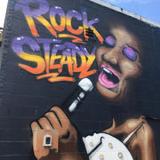 Aretha Franklin graffiti mural pops up behind a beauty supply store