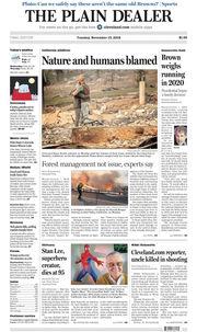 The Plain Dealer's front page for November 13, 2018