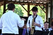Slidell High Jazz Band rocks out for Camp Salmen