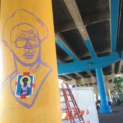 Brandan Odums' Buddy Bolden mural rises on S. Rampart Street