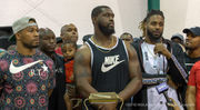 Saints players attend Kenner rally protesting Nike ban