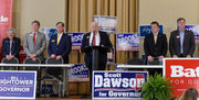 Gov. Kay Ivey makes rare appearance at candidate forum with GOP rivals