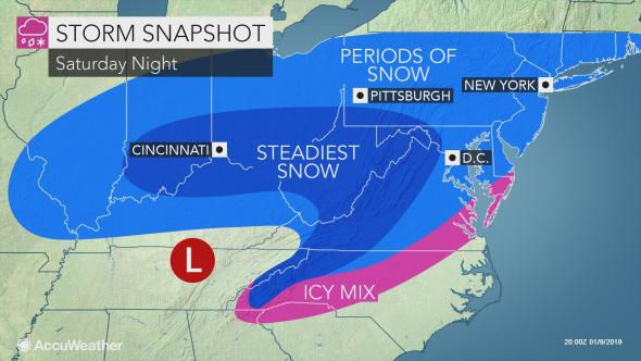 N.J. weather: Snow remains likely this weekend, but early ... on