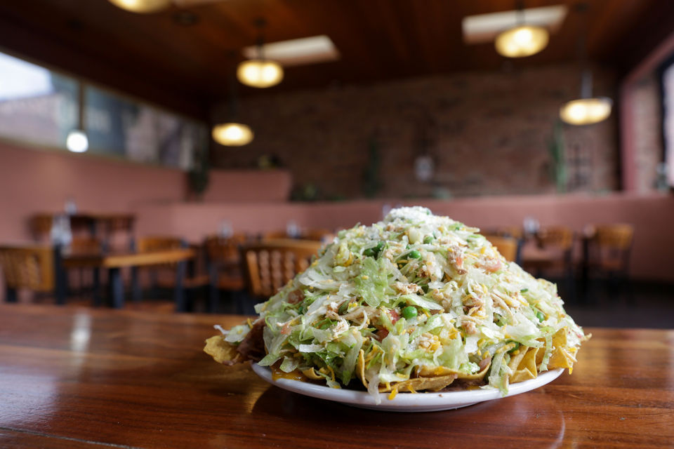 The Topopo Salad From El Azteco In East Lansing Nikos Frazier Nfrazier Mlive
