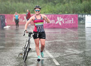 A very wet 2018 Iron Girl at Oneida Shores