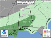 Alabama faces risk of strong storms tonight