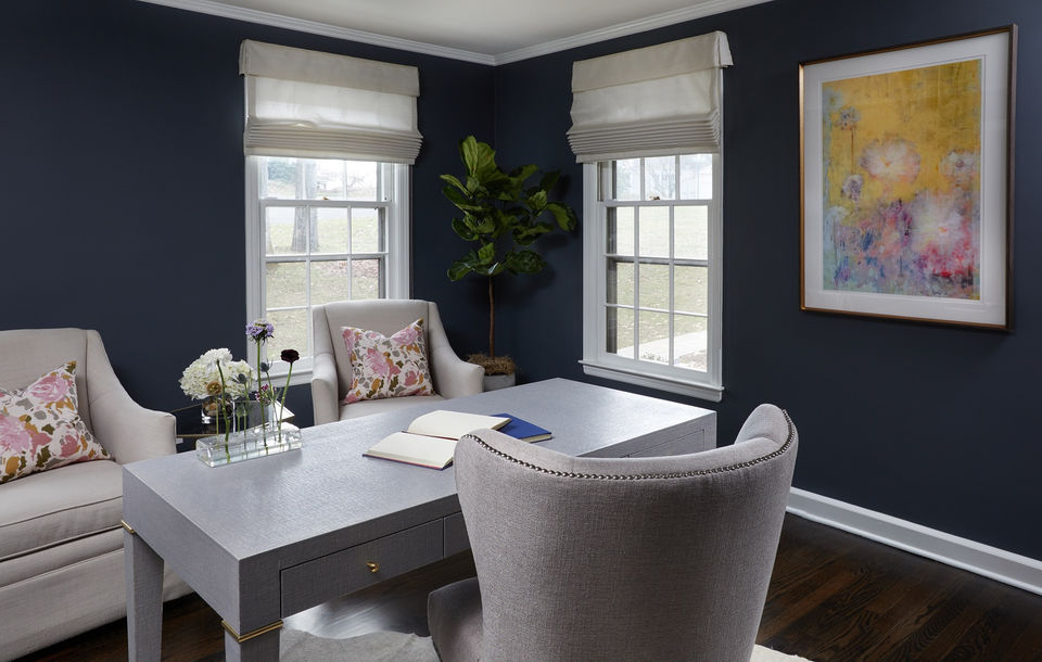 n j home makeover going dark for a rich sophisticated home office