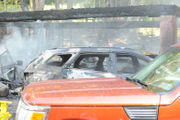 'Fully involved' blaze destroys garage, cars in Williams Township (PHOTOS)