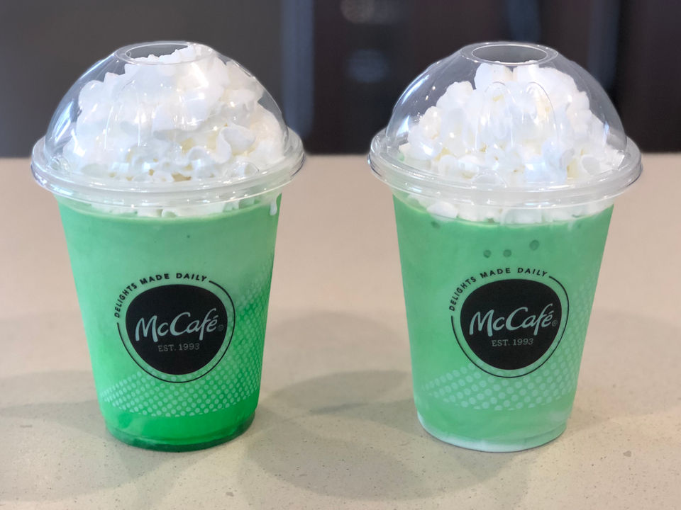 Somehow we\'ve never had a McDonald\'s Shamrock Shake, until now ...