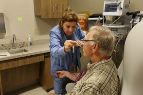 CLEVELAND, Ohio -- Even though the Veterans Administration's new outpatient clinic in Willoughby had been open for only a few hours, Monte Hallam of Madison found it was already an efficient operation.