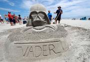 Amateur artists show off at sand sculpture contest