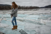 Giant chunks of ice wash ashore and flow down Connecticut River (photos and videos)