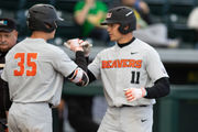 Kevin Abel, Trevor Larnach lead Oregon State baseball to 4-3 win at Oregon