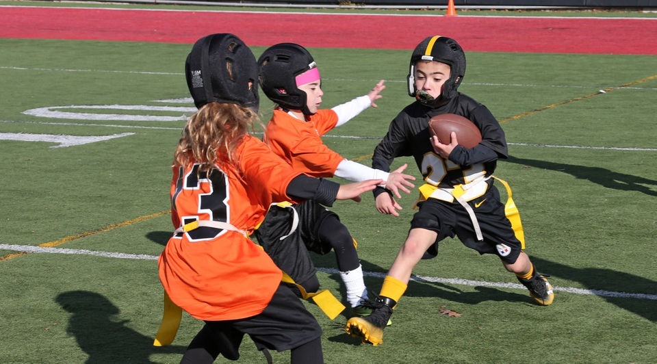 Next Level Sports Youth Flag Football League Action at Moore Catholic HS 92e3628ba