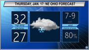 More snow likely: Northeast Ohio Thursday weather forecast