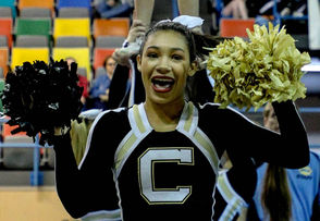 Cullman competes during the AHSAA state cheerleading finals at Wallace State in Hanceville, Ala., Saturday, Dec. 15, 2018. (Dennis Victory | preps@al.com)