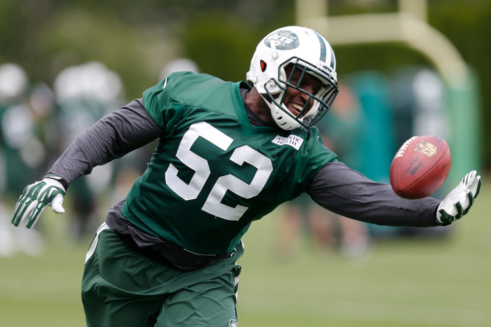 4854d01d1a2 New York Jets linebacker David Harris, a Grand Rapids native. (AP file)