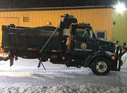 Southwick DPW driver, plowing snow, escapes injury when defective driveshaft launches rear of dump truck into the air
