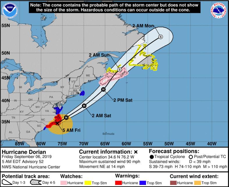 N J  weather: Hurricane Dorian to bring gusty winds, coastal