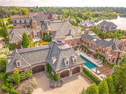 $10.5M Michigan dream home has 27 rooms, car wash and 2 story library