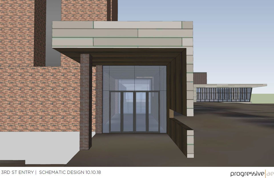 Superior A View Of The Third Street Entrance Design For The Proposed $17 Million  Downtown Muskegon Convention Center. (Courtesy | Progressive AE)