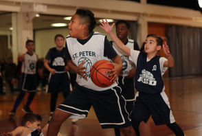 St. Peter St. Paul vs. Academy of St. Dorothy in CYO 5th grade B division playoff action, held Holy Family's Monsignor McGlynn Community Center, in Westerleigh. February 16, 2019. (Staten Island Advance/Derek Alvez)