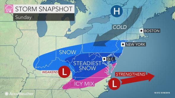 N.J. weather: Forecast updated for potential weekend snow. Expect ...