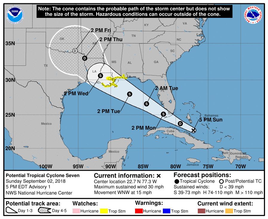 tropical storm watch issued for louisiana coast what to know sunday