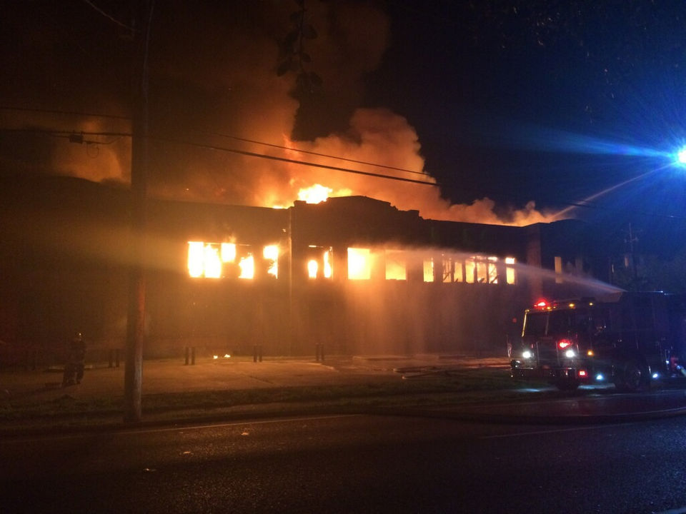 Fire destroys old Kenner High School on Feb. 19, 2018
