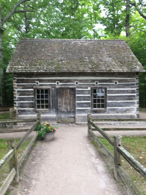 The little log cabin at the tip of Old Mission Peninsula is on the state register of historic places.