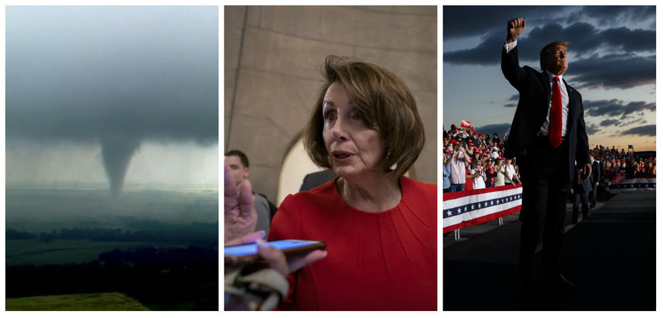 Tornado outbreak, Democrats spar, Trump on the campaign trail & more: What's trending today
