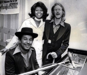 From left are recording artist Willie Tee, vocalist Irma Thomas and Quint Davis, the festival's director, in 1977.