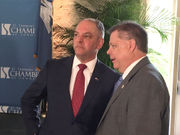 Gov. Edwards again stresses budget compromise in Mandeville talk