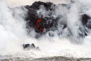 Lava from Kilauea volcano enters ocean, creates toxic cloud (photos)