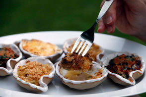 We just can't leave well enough alone in New Orleans. If it is delicious, we know it can be made more delicious. Case in point: Chargrilled oysters. Simple, right? Shuck the oyster. Spoon a bit of garlicky butter on top, sprinkle with parmesan. Put it on a hot grill. When the edges start to curl and it is bubbly hot, pull it off. Then dig in, sopping up the buttery sauce with French bread. Drago's made that treat famous. These days, more and more New Orleans restaurants offer chargrilled oysters with an ever-expanding variety of toppings.