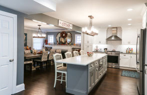 Joseph and Marie Canarelli enlarged the kitchen of their Union home to support their frequent entertaining.